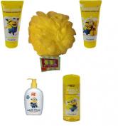 Despicable Me Minion Made Bath & Body Bundle -5 Items, with Bonus Jumbo Bath Sponge