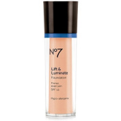 Boots No7 Lift & Luminate Foundation Warm Beige by Boots