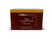 Organic Virgin Coconut Oil Soap and Body Scrub with Real Coffee Grains Is the Best Natural Exfoliant for Fresh Clean Feel Every Bath - for Healthy and Glowing Rosy Skin!