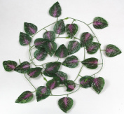 RayLineDo® Pack of 12PCS 2.4m Artificial ivy Green Vine Leaf Garland Plants Fake Foliage Flowers Decoration