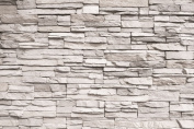 White stonewall wall paper - Mural - Stone wall decor by Great Art 140cm x 100cm