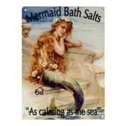 """Mermaid Bath Salts """"As Calming As The Sea"""" - Large Steel Wall Sign"""