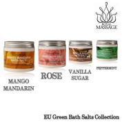 Royal Massage Set of 4 590ml Natural Sea Salt Mineral Bath Salts