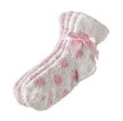 2 Pack of Earth Therapeutics Therasoft Ultra Plus Moisturising Socks with Shea Butter in Pink