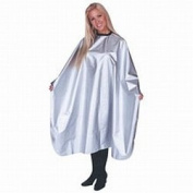 Scalpmaster Nylon Chemical Cape 150cm x 110cm , Snap Silver