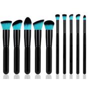 Style Master Makeup Brush Set Cosmetics Foundation Blending Blush Eyeliner Face Powder Brush Kabuki Blue Hair