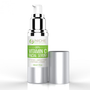 Our Best Vitamin C Serum for Face and Neck. Recommended For Anti-Ageing, Brightening, Dark Circles, Scars, Acne, Dark Spots. For Radiant Skin. Vitamin C Serum 20% 30ml Airless Pump Bottle