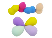AKAGO(TM) 8pcs High Quality Flawless Makeup Blender Foundation Puff Multi Shape Sponges
