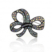 DoubleAccent Hair Jewellery Simulated Crystal Ribbon Hair Barrettes,