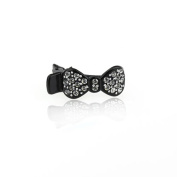 DoubleAccent Hair Jewellery Simulated Crystal Bow Mini Hair Clip,