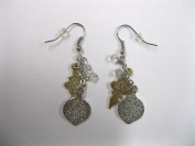 Roman Inc. Earrings, Silver and Gold Ornaments