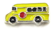 "Best Wing Jewellery ""School Bus"" Floating Charm for Glass Lockets"