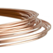 1 x Rose Gold Square Copper Craft Wire 6 Metre x 0.8mm Coil - (X1695) - Charming Beads