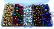 Jingle Bells 10mm Christmas Holiday Craft Decor 5 Varieties 400 Bells