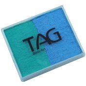 TAG 2 Colour Split Cake - Pearl Teal and Sky Blue