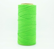 NEON GREEN 1mm Waxed Polyester Twisted Cord Macrame Bracelet Thread Artisan String
