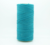 TURQUOISE 1mm Waxed Polyester Twisted Cord Macrame Bracelet Thread Artisan String