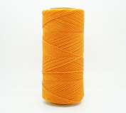 GOLDEN YELLOW 1mm Waxed Polyester Twisted Cord Macrame Bracelet Thread Artisan String