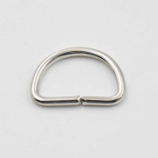 100 PCS 12mm Non Welded Dee Ring for Webbing D Buckles Bag 1/2""