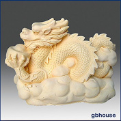 Lucky Dragon - 3D silicone soap/candle/plaster/polymer clay mould