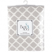 Ben & Noah Fitted Flannel Crib Sheet- Grey Lattice