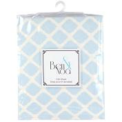 Ben & Noah Fitted Flannel Crib Sheet- Blue Lattice