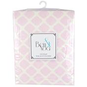 Ben & Noah Fitted Flannel Crib Sheet- Pink Lattice