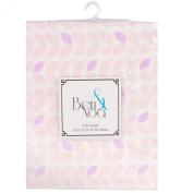 Ben & Noah Fitted Crib Sheet- Pink Petals
