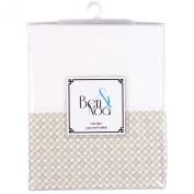 Ben & Noa Crib Skirt Percale, Linen Mini Print
