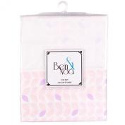 Ben & Noa Crib Skirt Percale, Pink Petals
