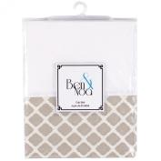 Ben & Noa Crib Skirt Percale, Linen Lattice