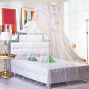 G00616 Dome Bed Canopy Netting Princess Mosquito Net, White