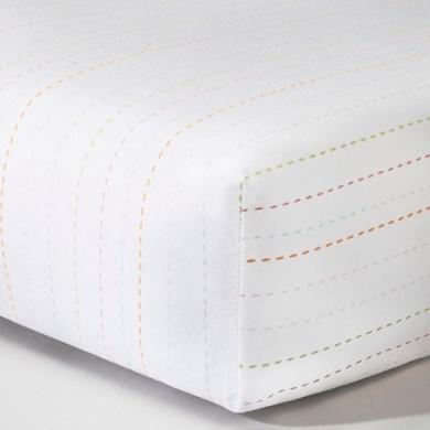 CircoTM Woven Fitted Crib Sheet - Stitch Stripe