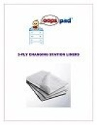 Oops Pad 3-Ply White Changing Station Table Liners 250ct