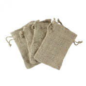 Natural Colour Burlap Bag with Drawstring Closure for Arts & Crafts Projects, Gift Packaging, Presents, Snacks & Jewellery (50 Pack) by Super Z Outlet®