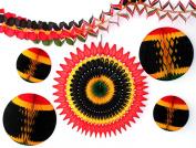 6-piece Complete Kwanzaa Honeycomb Holiday Decoration Set