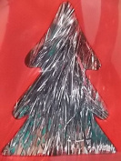 Silver Tinsel for Christmas Tree - 46cm - 1000 Strands - icicles