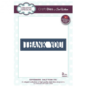 Sue Wilson Designs Dies - Expressions Collection Bold Thank You die