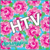 LP Inspired PINK CARNATIONS PATTERN Heat Transfer Vinyl 30cm x 38cm HTV for Shirts
