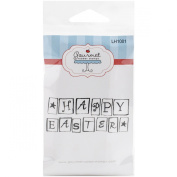 Gourmet Rubber Stamps Cling Stamps 7cm x 12cm -Happy Easter Blocks