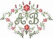 ABC Machine Embroidery Designs Set - Heirloom Monogram Embroidery Designs 27 Designs (Capital letters in heirloom stitching & blank monogram background) 5x7 Hoop - CD