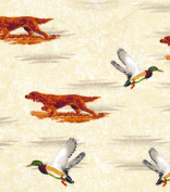 1/2 Yard - Ducks & Hunting Dogs Flannel Fabric (Great for Quilting, Sewing, Craft Projects, Blankets, Throw Pillows & More) 1/2 Yard x 110cm