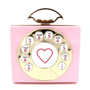 Women Acrylic Pink Phone Shape Evening Bags Purses Clutch Vintage Banquet Handbag