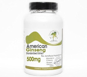 American Ginseng Standardised Extract 500mg ~ 200 Capsules - No Additives ~ Naturetition Supplements