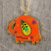 "Natural Life Glitter and Gold Car Charm Elephant ""Lucky Charm"""