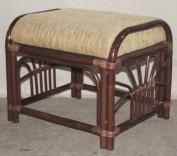 Ottoman Pouffe Stool Nikki Colour Dark Brown with Cushion. Handmade Eco-friendly Materials Rattan Wicker Home Furniture