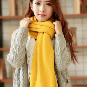 KAKA(TM) Women's Korean Artistic Stylish Winter Colourful Knitting Wool Scarves Oversized Dual Using Scarf Shawl 21 Colours
