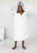R2D2 Star Wars Hooded Bath Wrap Towel by Disney Great for Home Beach or Pool in White
