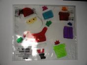 Santa with Presents Gel Clings