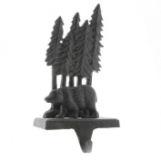 Woodland Bear Stocking Holder - Cast Iron